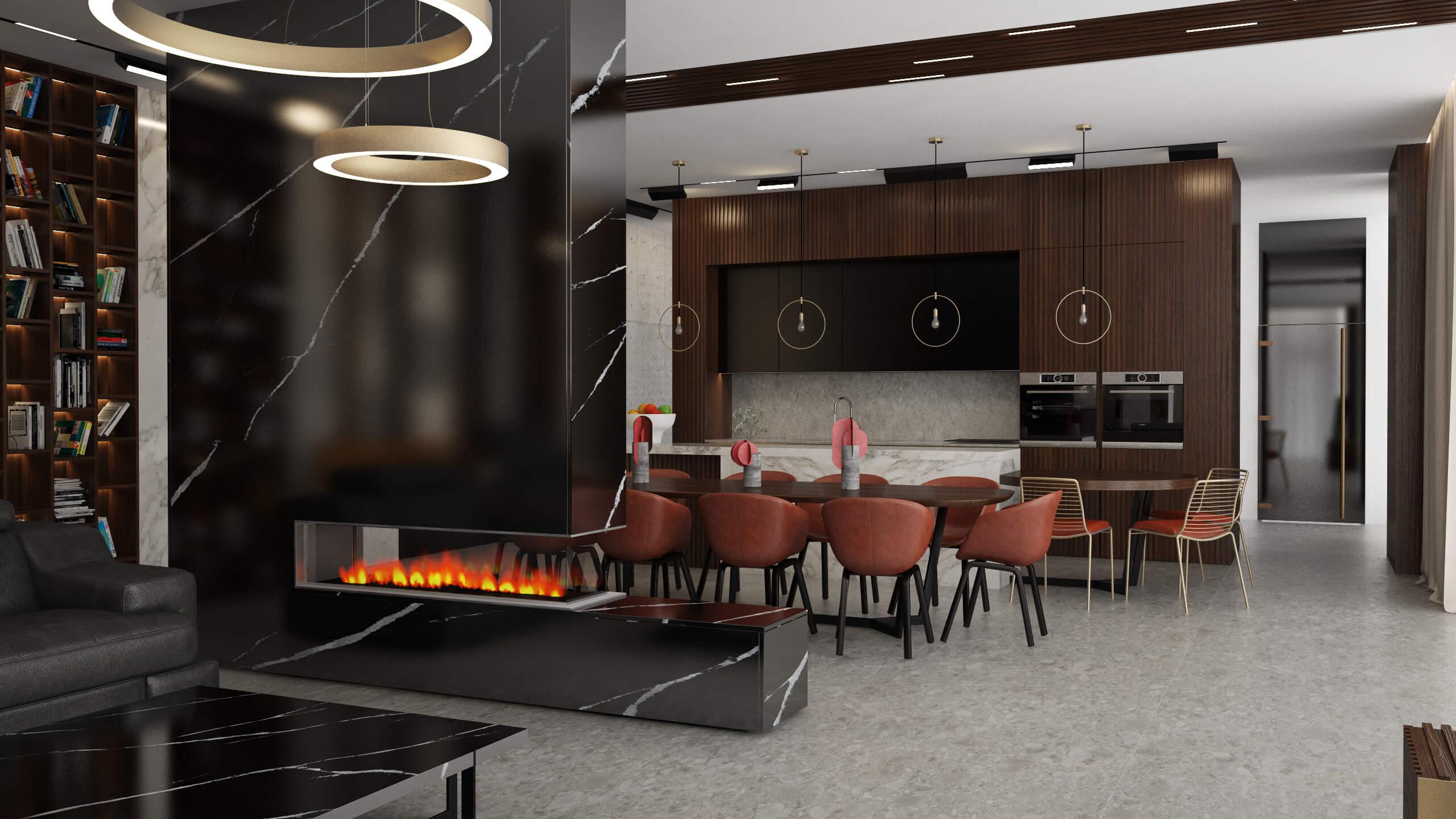 интериорен проект кухня вариант 2 боная