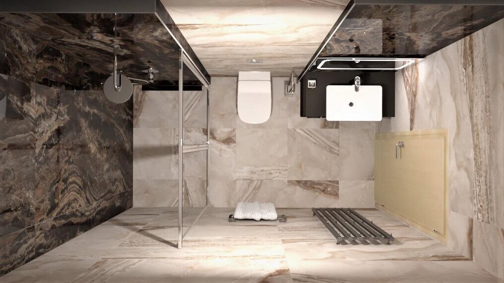 баня гости интериорен проект боная