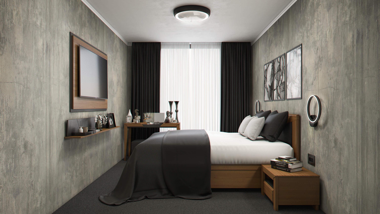 интериорен проект дендро спалня вариант 2