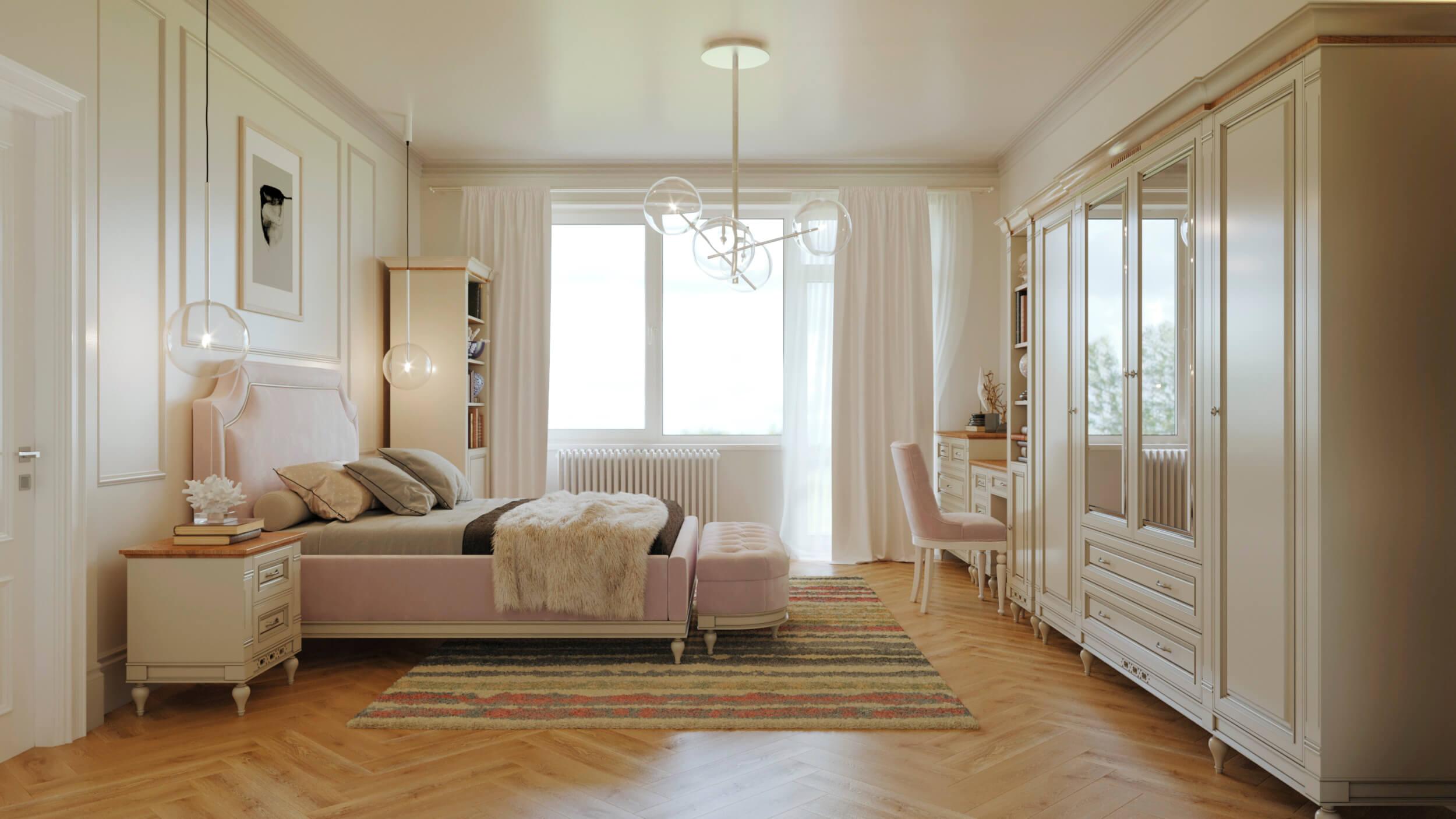 спалня флоренция интериорен проект