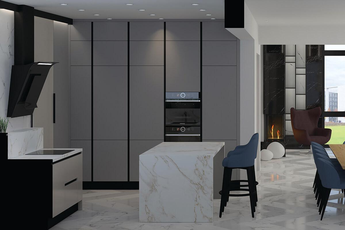 интериорен проект метроплис кухня