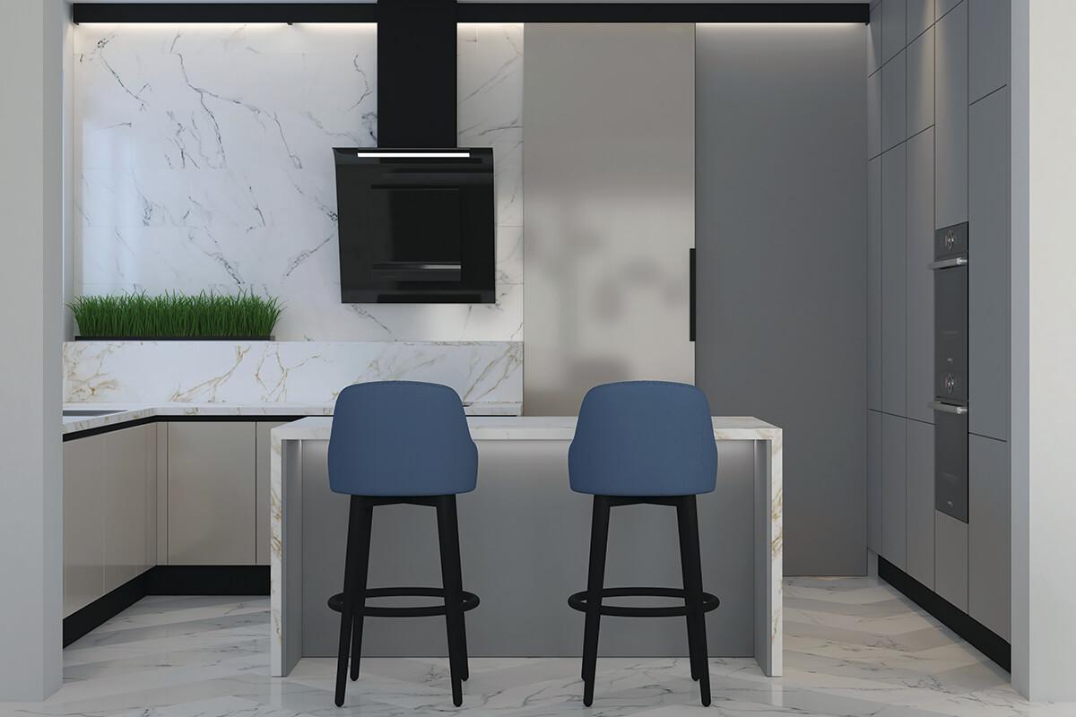 интериорен проект метрополис кухня