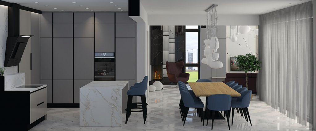 кухня трапезария интеиорен проект метроплис