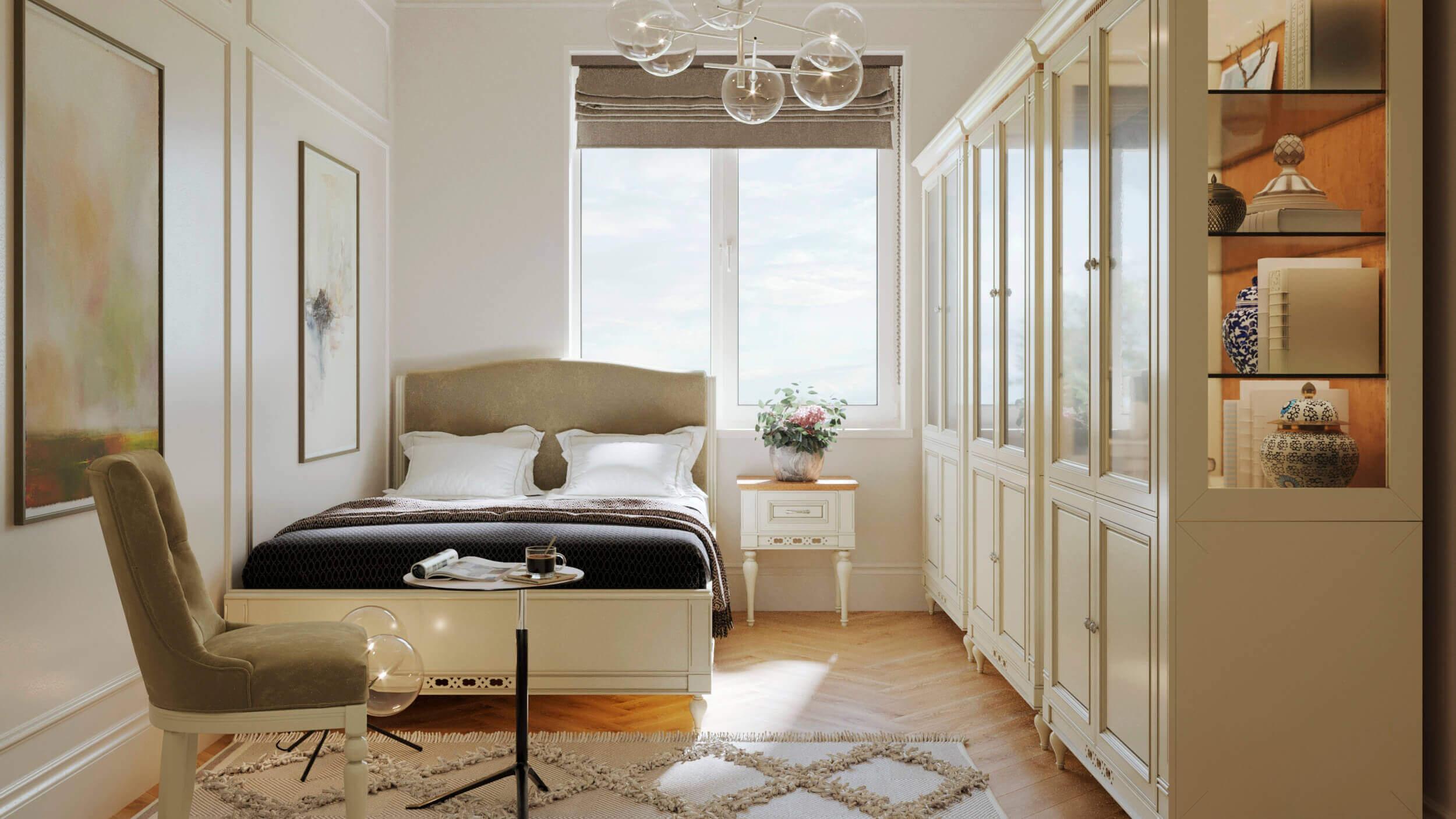 спалня 2 интериорен проект флоренция