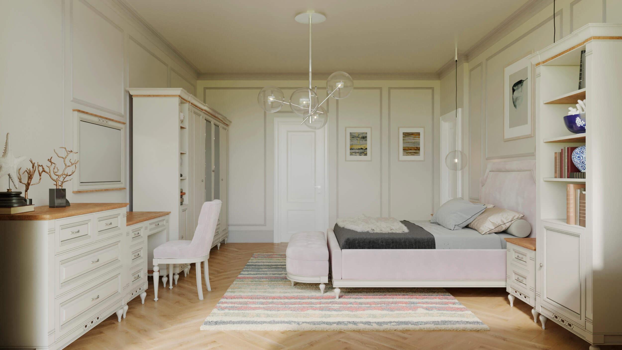 спалня интериорен проект флоренция