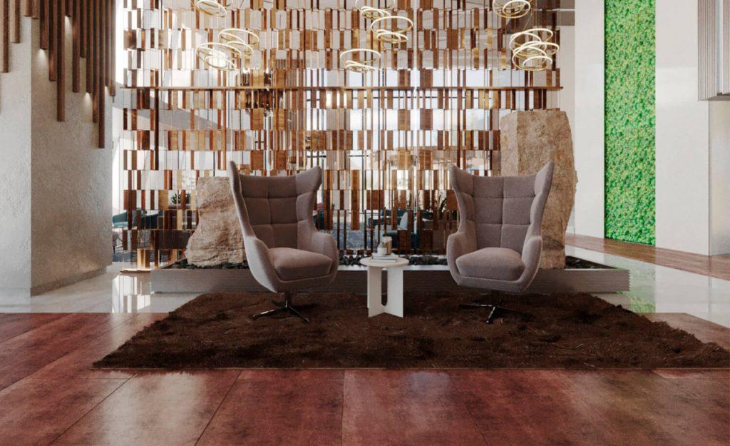 Проект на хотелски фоайе и салон Neo