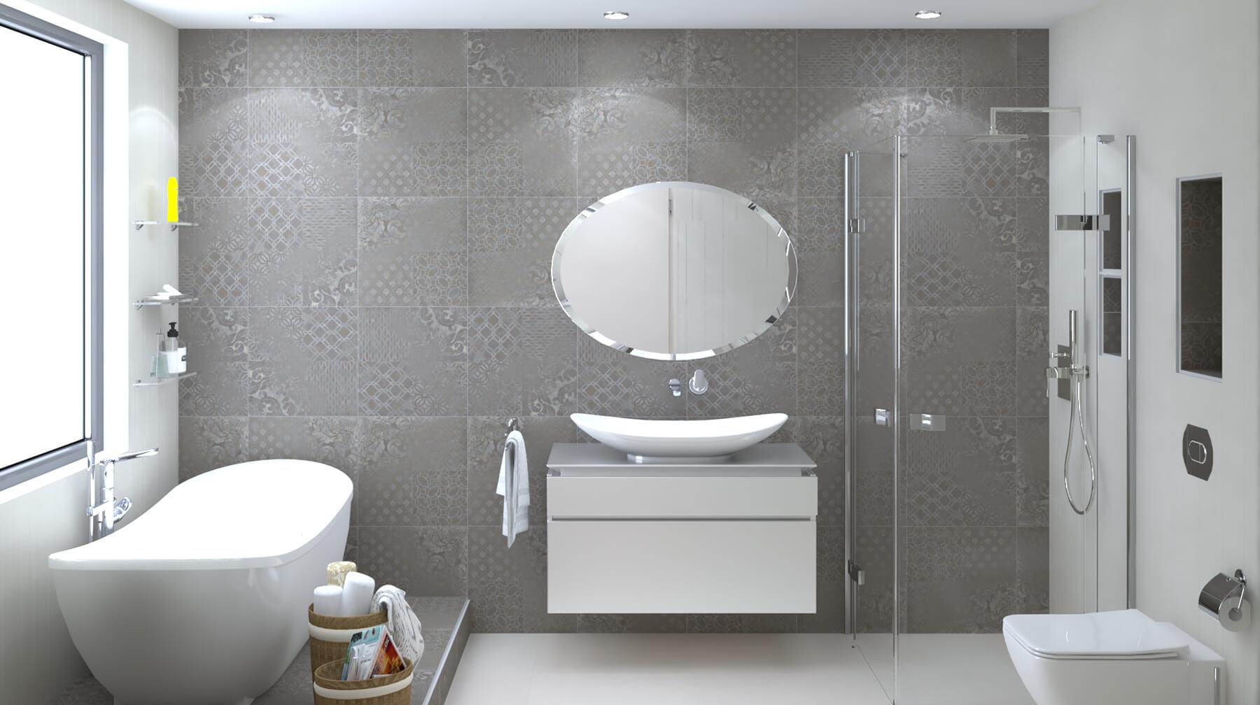 bathroom interior design 3D project