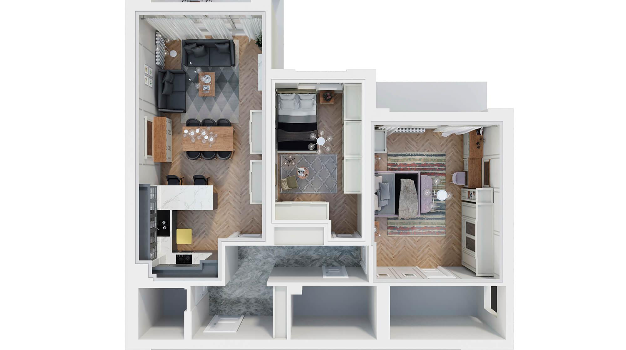 interior design floor plan top view