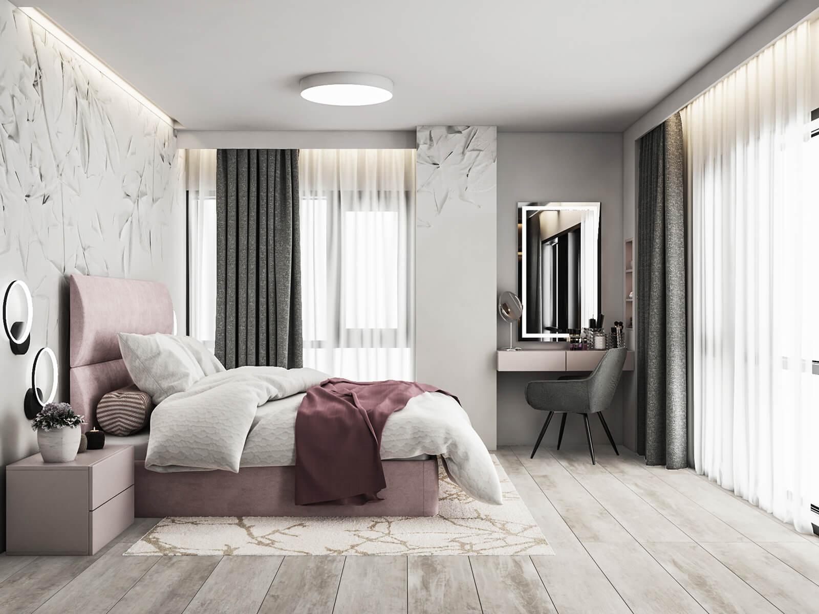 interioren dizain proekt na roditelska spalnya-gia