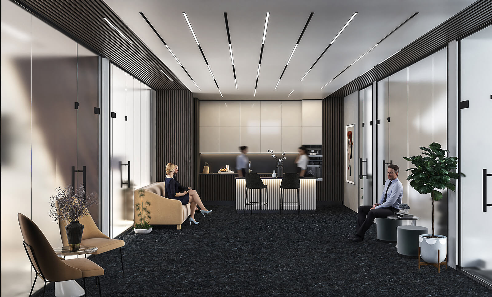 interioren dizain proekt predverie na ofis sgrada rivera