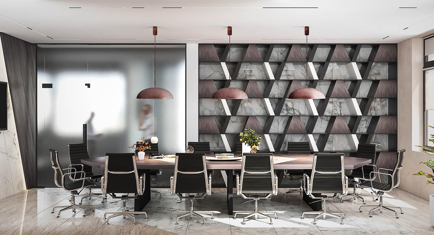 interioren dizain proekt zasedatelna zala na ofis sgrada rivera