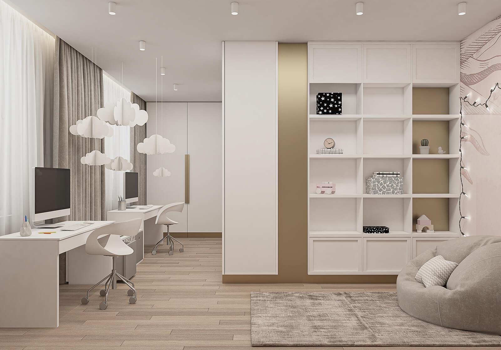 interioren-dizain-proekt-na-detska-staya-za-dve-deca