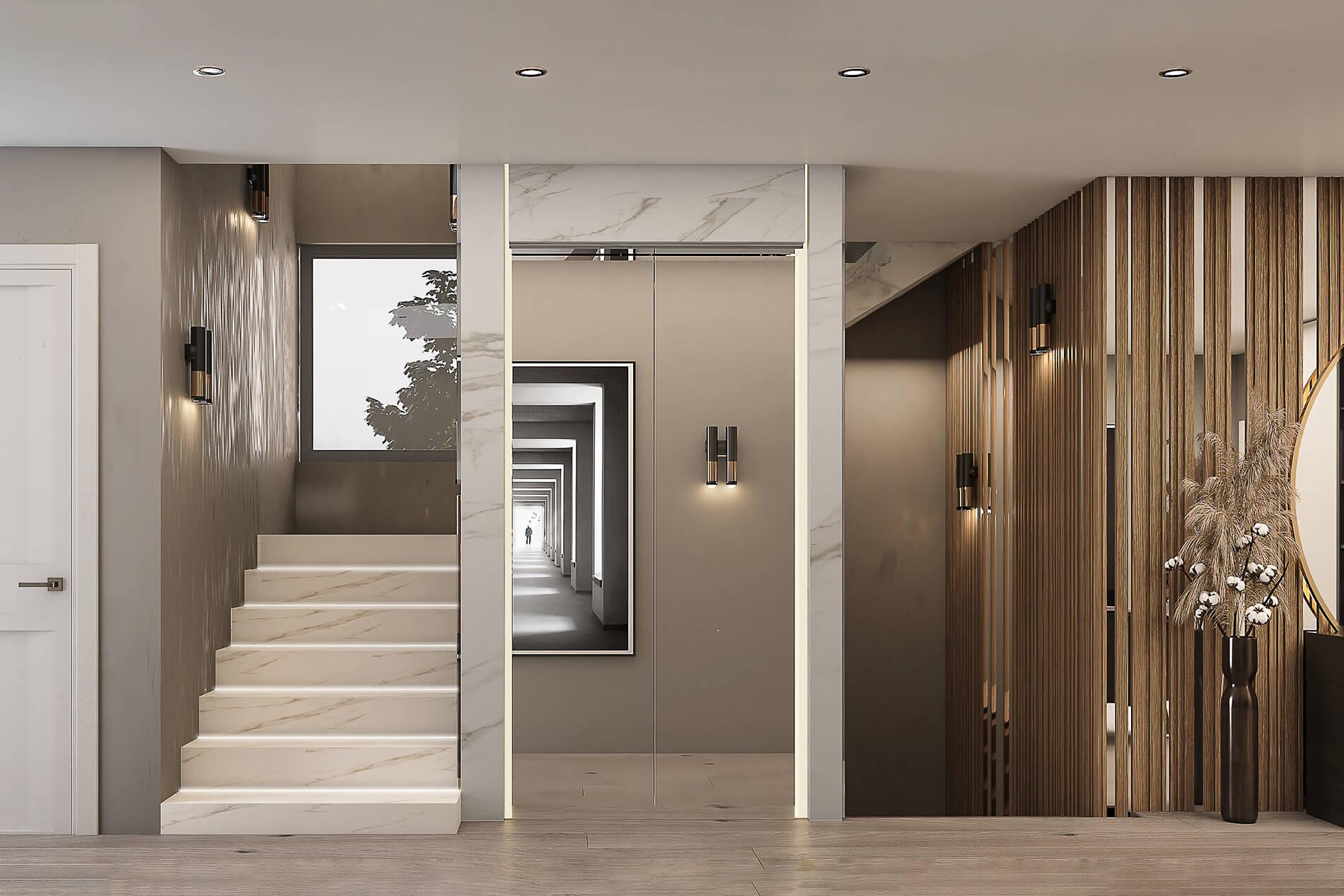 interioren-proekt-na-koridor-na-kashta-s-asansior