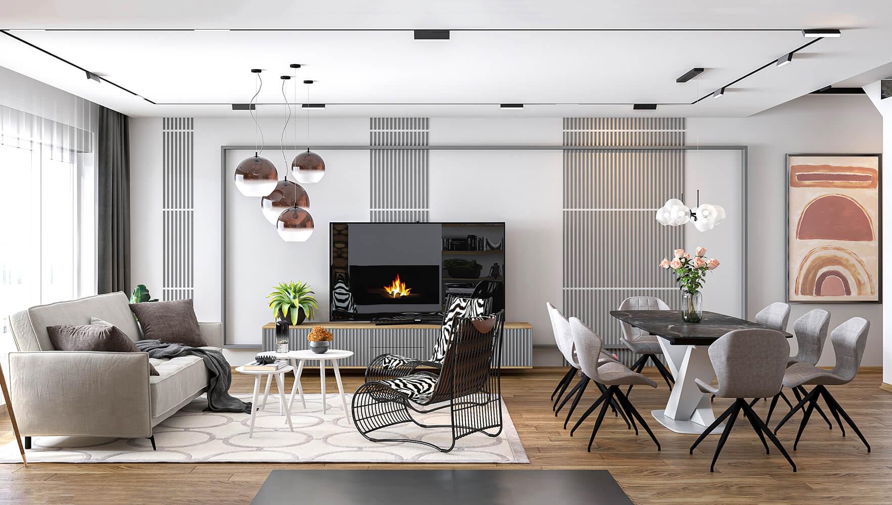 interioren dizain proekt na hol dneven trakt i vsekidnevna