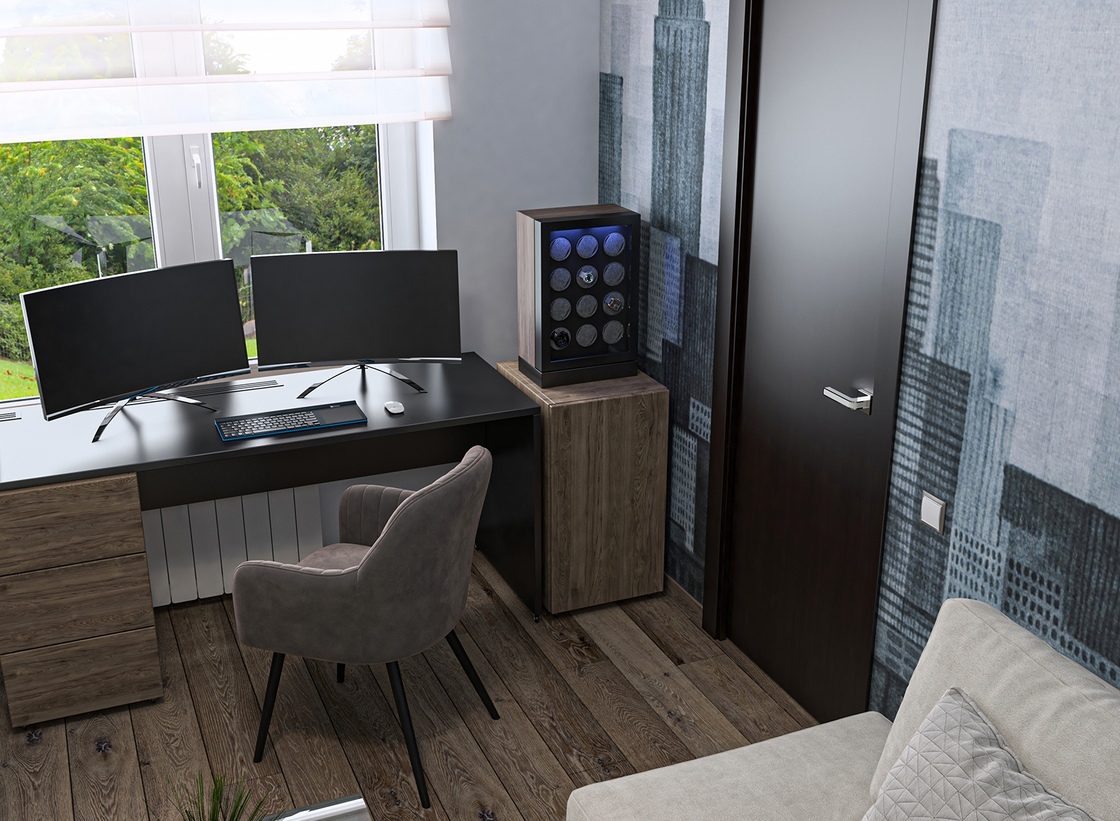interioren dizain proekt na home office domashen office aurora