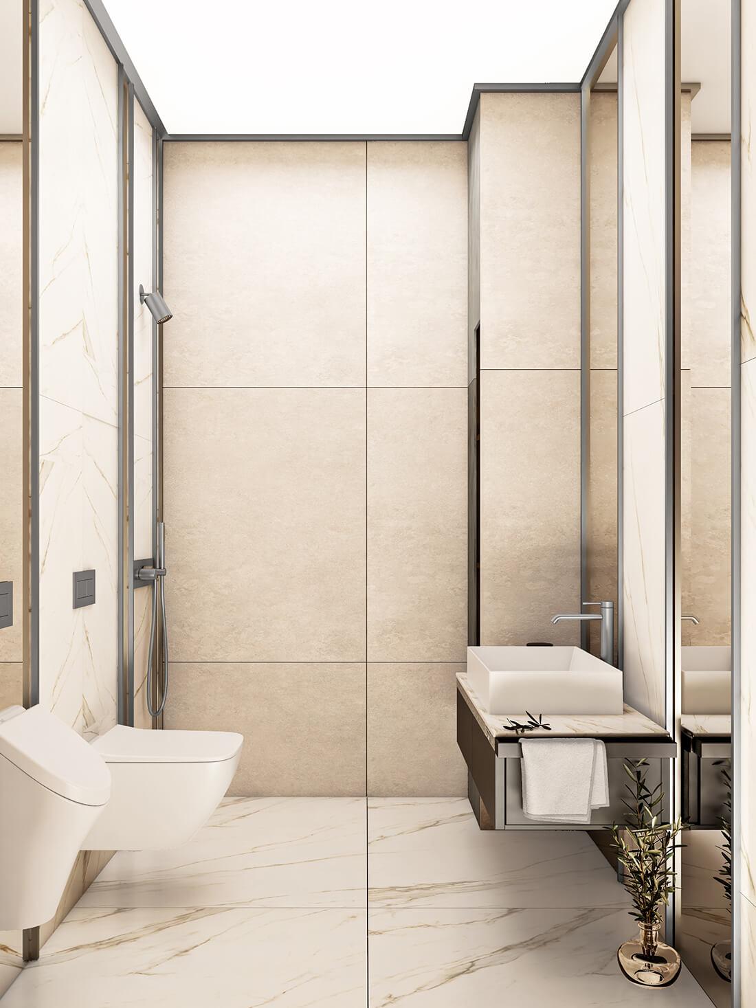 interioren dizain proekt na toaletna