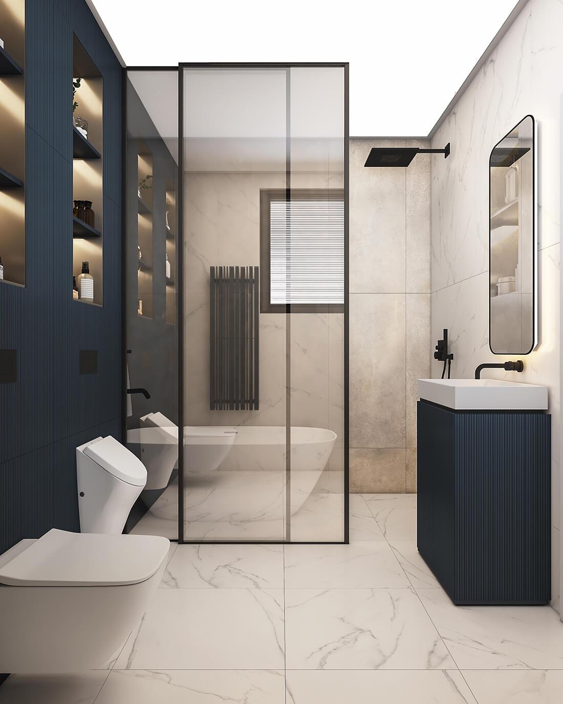 interioren dizain proekt na vtora bany